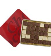 Chocotelegram relatiegeschenken chocolade BLIK
