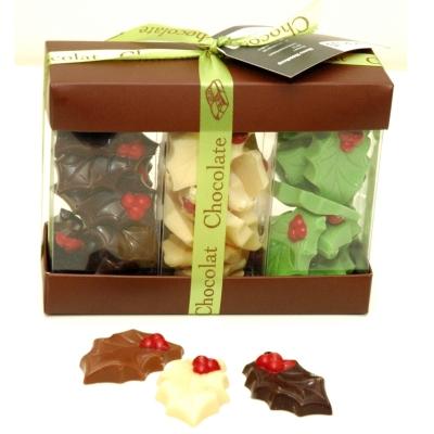 Kerstchocolade Hulstblaadjes Middelchocoladegeschenken