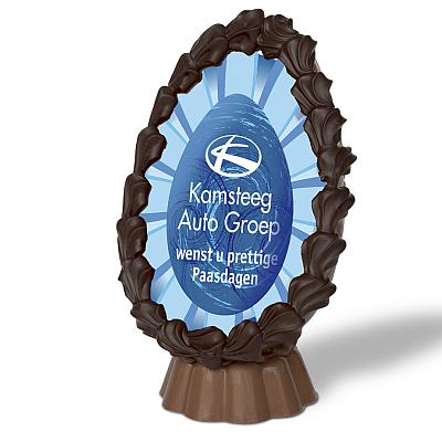 Bedrukt Ei Met Logo Pasen Chocolade Paaschocolade Bedrukt