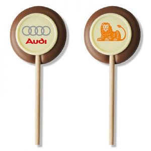 Chocolade Lolly Met Logo