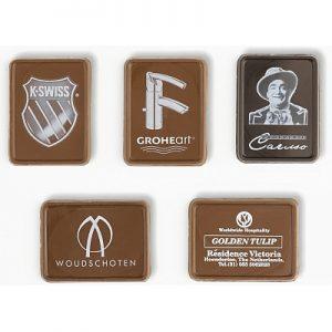 Chocolaatje Met Logo Verpakt